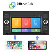 7 zoll Android Autoradio GPS Navi Android für Ford Focus Transit C/S-MAX Fusion Kuga Fiesta Galaxy Connect Mondeo