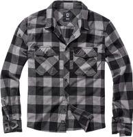 Brandit Hemd Checkshirt in Black/Charcoal-L
