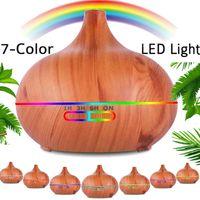 Aroma Diffuser,500ml Luftbefeuchter Ultraschall Vernebler Raumbefeuchter Elektrisch Duftlampe Öle Diffusor mit 7 Farben LED