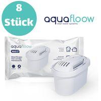 8er Pack Baugleich zu Brita Wasserfilter Kartuschen Wasserfilter Kartuschen Aquafloow Kompatibel mit BRITA Maxtra Filter