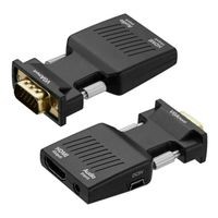 Video Adapter VGA zu auf HDMI Konverter Wandler Audio Converter Adapter Hub 1080P HD TV AV Medienkonverter für Computer TV