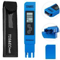 Digitale Wassertester mit LCD Anzeige + Batterie, Variante:3in1 - TDS - EC- Temp