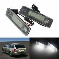 2X LED Kennzeichenbeleuchtung Lampen für Skoda Octavia 1Z 2004-2013 Roomster 5J 2006-15 1Z0943021, 1Z0943021A, 1Z0943021B