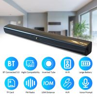 Drahtlos BT Connected 5.0 Soundbar-Stereolautsprecher mit AUX Line-Fernbedienung Eingebaute wiederaufladbare 2000-mAh-Akkus mit hoher Kapazitaet fuer TV-Heimkino-3D-Soundbars Bass-TV-Subwoofer