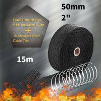 15m Auto Hitzeschutzband Auspuff Auspuffband bis 2000¡ã Hitzeschutz +10 Krš¹mmer
