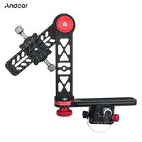 Andoer 720-Grad-Panoramakopf Panorama-Stützständer Kardanischer Stativkugelkopf Kompatibel mit Canon Nikon Pentax DSLR-Kamera-Camcorder Maximale Tragfähigkeit 10 kg