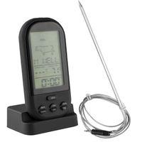 mumbi BBQ Funk Grill Braten Thermometer mit LCD Display und Timer Grillthermometer