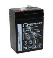Q-Batteries 6LS-4.5 6V 4,5Ah Blei-Vlies Akku / AGM VRLA