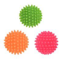 3 Stück Massageball Igelball mit Noppen Lacrosse-Ball für eine Tiefe Muskelmassage, Perfekt für Rücken, Beine, Füße & Hände