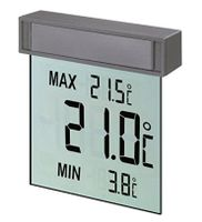 TFA Vision Digitales Fenster Thermometer, Silber