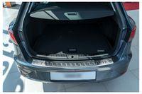 Ladekantenschutz mit Abkantung für Seat Leon 3 5F ST Kombi Bj.2014-2020, Farbe:Silber