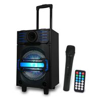 United Party Bluetooth Trolley Lautsprecher mit Partylicht SPK1834
