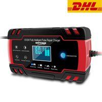FUBO® Autobatterie Ladegeräte 8A 12V/24V Vollautomatisches Batterieladegerät KFZ mit LCD-Bildschirm Erhaltungsladegerät für Auto und Motorrad (für Batterien von 6Ah-150Ah)
