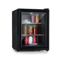 Klarstein Brooklyn 42 Mini-Kühlschrank mit Glastür, kompakt, freistehend, Thermoelektrisches Kühlsystem, 42 Liter, 12 - 18 °C, Auto DeFrost, , 0 dB, Innenraum: schwarz, schwarz