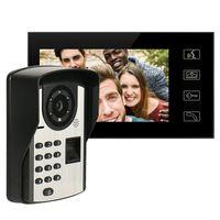 7-Zoll-TFT-LCD-Display 16: 9 1024 * 600 Digitale Tuerklingel Regensicheres WLAN Intelligentes Video-Tuertelefon Touchscreen-Fingerabdruck-Fernbedienungskennwort Mit IR-Nachtsicht entsperren