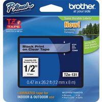 Etikettenband Brother TZE131 - 12,70 mm - Glasklar - 1 Each