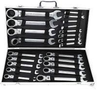 Ratschenschlüssel Gabelschlüssel set Flexible Kopf Kombination Maulschlüssel Ratsche Werkzeuge Reparieren 6-32 mmWerkzeug aus Chrom-Vanadium-Stahl 22-teiliger Universal Werkzeugsätze