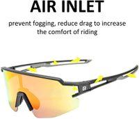 Fahrradbrille Kost Polarisiert Sonnenbrille Radbrille UV400 Vollformatbrille