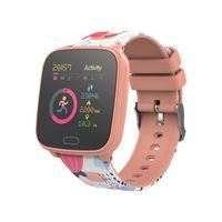 Forever GO JW-100 Smartwatch Armbanduhr Kinder Schritt, Zeit, Datum, Musik-Management, Alarm, Orange