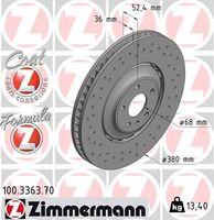 2x ZIMMERMANN VORNE Bremsscheibe für AUDI Q5 8R A8 4H_ Q5 FY
