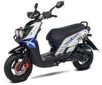 Motorroller / 4 Takt Moped BMX 4.0 50ccm 45KM/H blau