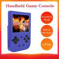 Tragbare Mini-Handheld-Spielekonsole Proprietary Mold 8-Bit-3,0-Zoll-Bildschirm Eingebaute klassische 500 Spiele Retro Kindheit Handheld-Spielekonsole Kid Kinder Geschenk