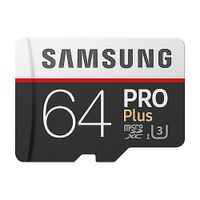 Samsung Pro Plus 64 GB microSDXC Speicherkarte (100 MB/s, Class 10, UHS-I, U3)