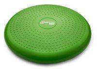 Hop-Sport Ballsitzkissen 34cm Durchmesser - Balance-Kissen mit/ohne Noppen beidseitig verwendbar - grün