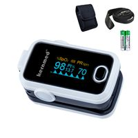 Kernmed OLED Finger Pulsoximeter A310 weiß+Alarm+Pulston+Perfusion Oxymeter