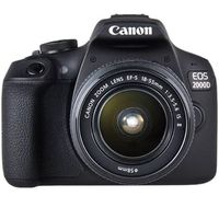 Canon EOS 2000D EF-S 18-55 IS II Kit, Farbe:Schwarz