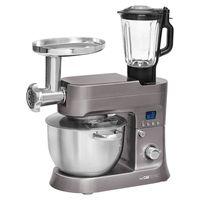 CLATRONIC Knetmaschine KM 3674 titan 1200W Küchenmaschine Standmixer Rührgerät