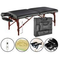 Master Massage Montclair 71 cm Mobil Klappbar Massageliege Massagebank ThermaTop Integriertes Heizsystem Schwarz