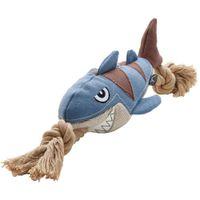 HUNTER Hundespielzeug Canvas Sansibar Rantum - Ausführung: Hai - Größe: 23 cm (39 cm Gesamtlänge)