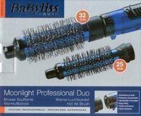 Babyliss 2602 Moonlight Professional DUO Heißluftbürste, 300 Watt, Lockenbürstenaufsatz