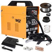 COSTWAY Ampere Schweissgeraet Schweissmaschine FLUX Schutzgas MIG 130 Elektrodenschweissgeraet Fuelldraht Gelb