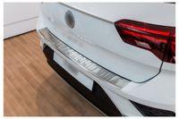 Ladekantenschutz mit Abkantung für VW T-Roc Typ A1 Edelstahl 2017-, Farbe:Silber