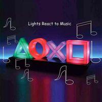 Für PS4 PP4140PS  Spiel Icon Lampe Tasten Symbol Lampe mit Farbwechsel Funktion, Mehrfarbig