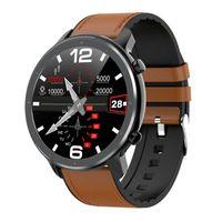 Abtel Smartwatches IP68 Wasserdichtes PPG + EKG-Herzfrequenz-Blutdruck-Sauerstoffmonitor,Farbe: Schwarzer