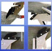 Schieferschere 35 mm mit Locher Schere Schiefer Eternit Faserzement Dachdecker