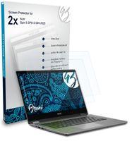 Bruni Basics-Clear 2x Schutzfolie kompatibel mit Acer Spin 5 SP513-54N (2020) Folie