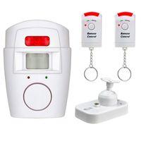 2x 105 dB Alarmanlage mit 2 Hand Fernbedienungen Alarm Anlage kabellos Sirene