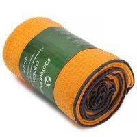 Rutschfestes Yogahandtuch mit Silikon-Dots (Noppen) »Chandra« Anti-Slip Oberfläche daher ein echtes Premium Yoga Towel bzw. Sporthandtuch. Ideal für Hot Yoga und Ahstanga rutschfest, hautfreundlich, hohe Feuchtigkeitsaufnahme (d.h. sehr saugfähig) & hohe orange