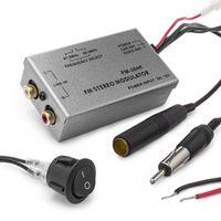 Universal FM Modulator Stereo MP3 Auto Antenne Kabel car radio Cinch AUX Adapter