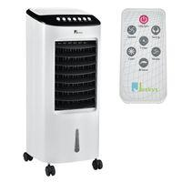 Juskys Mobile Klimaanlage mit Fernbedienung, Schwingfunktion & Timer – Klimagerät 65 Watt 76 cm – Luftkühler 3 Geschwindigkeiten – Weiß