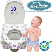 10 x Einweg Toilettensitzschutz Hygiene Abdeckung Baby Kinder Sevibaby  Mod: 239 Wc-Brillenschutz Sitzauflagen