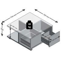 FMD Couchtisch TWIN 1 Beton LA/weiß Edelglanz; 659-001