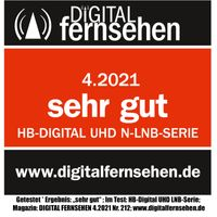 """HB-DIGITAL UHD 808 NW Octo LNB """"WEIß BLAU"""""""