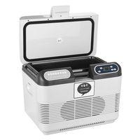 Sunnyme Tragbare Kompressor- thermoelektrische-Kühlbox Gefrierbox, 15 Liter, 12 V und 220 V für Auto, Lkw, EU-Stecker