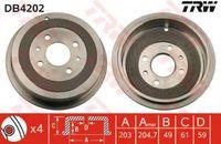 Trw Bremstrommel Hinterachse DB4202