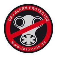 "Thitronik Warnaufkleber ""GAS-ALARM PROTECTED"" 3 St."